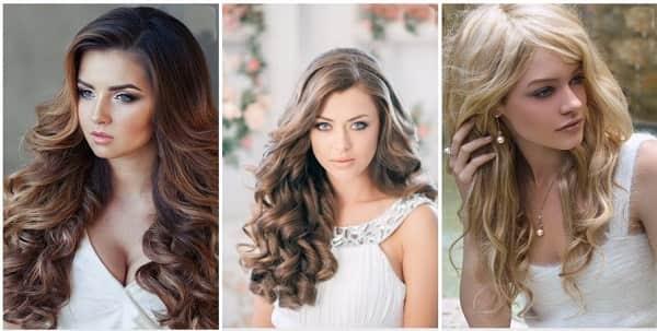 Прически на длинные распущенные волнистые волосы
