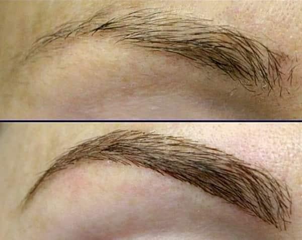 Фото бровей до и после татуажа