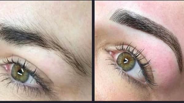 Татуаж бровей до и после фото