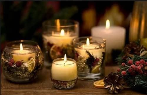 Гелевые свечи на новый год