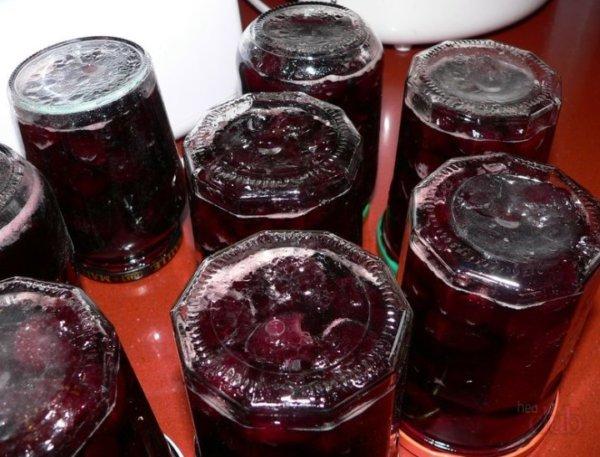 Варенье из черешни на зиму в литровых баночках