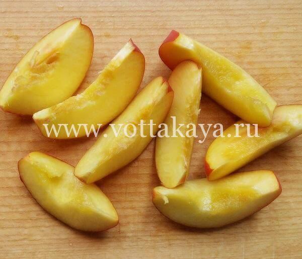 Дольки персиков без косточек для варенья
