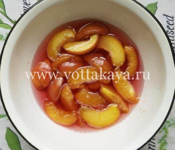 Варенье из персиков на зиму с сахаром
