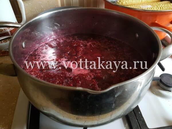 Варенье из малины на зиму с целыми ягодами