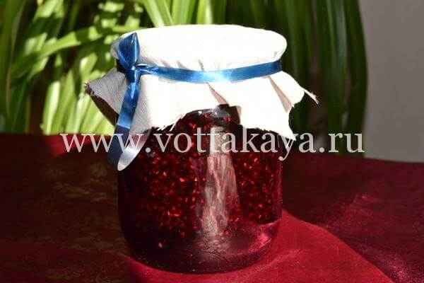 Варенье из малины на зиму густое с целыми ягодами